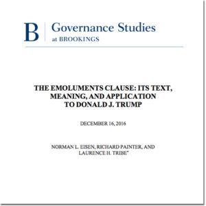 emoluments clause trump